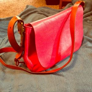 Pink Fossil crossover satchel